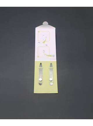 Косточки (вставки) для воротника рубашки стальные с магнитами, картонная упаковка
