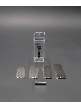 Косточки для воротника рубашки стальные с магнитами, 4 размера