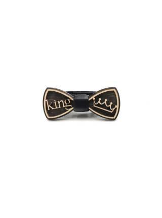 Деревянный галстук-бабочка детская King