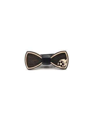 Деревянный галстук-бабочка детская Мяч