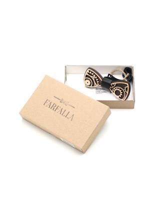 Деревянный галстук-бабочка детская Шестерни