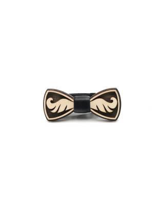 Деревянный галстук-бабочка детская Усы