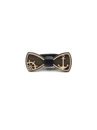 Деревянный галстук-бабочка детская Якорь