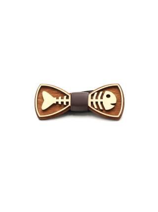 Деревянный галстук-бабочка Fish
