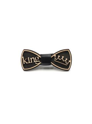 Деревянный галстук-бабочка King