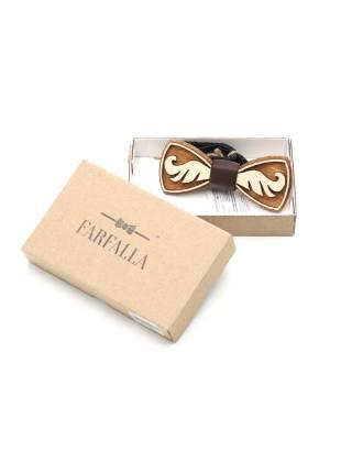 Деревянный галстук-бабочка Mustache