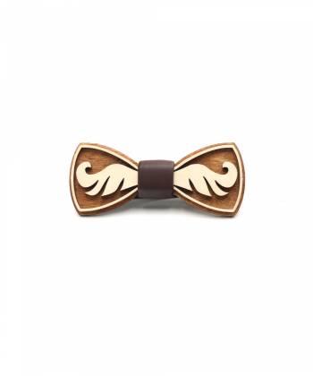 Деревянный галстук-бабочка Farfalla-rus Mustache