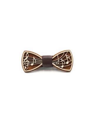 Деревянный галстук-бабочка Notes