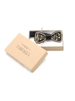 Деревянный галстук-бабочка Ноты