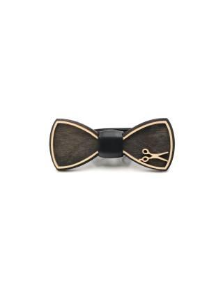 Деревянный галстук-бабочка Ножницы