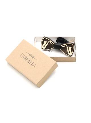 Деревянный галстук-бабочка Саксофон