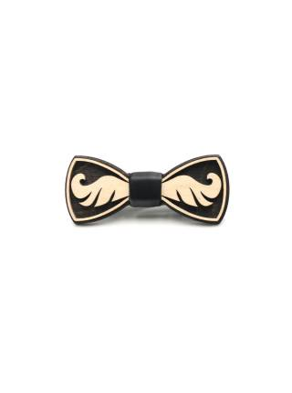 Деревянный галстук-бабочка Усы