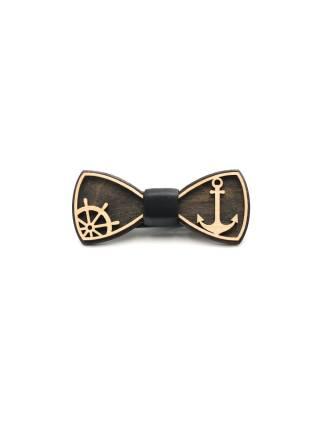 Деревянный галстук-бабочка Якорь