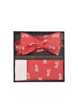 Подарочный набор галстук-бабочка с нагрудным платком Ретромобиль