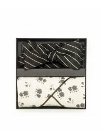 Подарочный набор галстук-бабочка из мягкой шерсти Ungaro с нагрудным платком изо льна