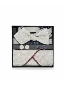 Подарочный набор галстук-бабочка с нагрудным платком и запонками Пейсли Belle