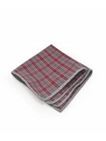 Нагрудный платок из хлопка в клетку с узором Красная Шотландка