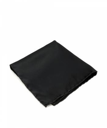 Платок-паше черный, нагрудный платок из натурального шелка