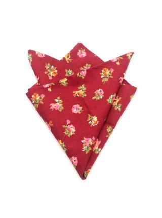 Платок-паше из хлопка с узором цветы Кумиру