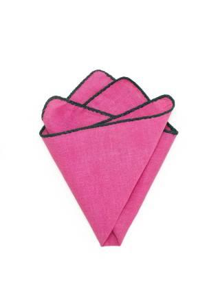 Платок-паше из льна Розовая пантера