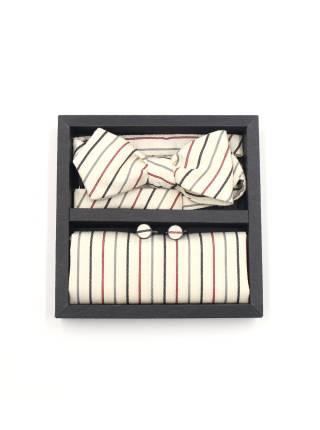 Подарочный набор галстук-бабочка с нагрудным платком и запонками Адмирал