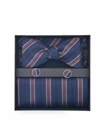 Подарочный набор галстук-бабочка с нагрудным платком и запонками Аристократ
