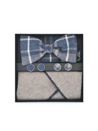 Подарочный набор галстук-бабочка с нагрудным платком и запонками Доктор Ватсон