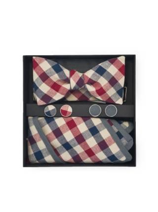 Подарочный набор галстук-бабочка с нагрудным платком и запонками Ливерпуль