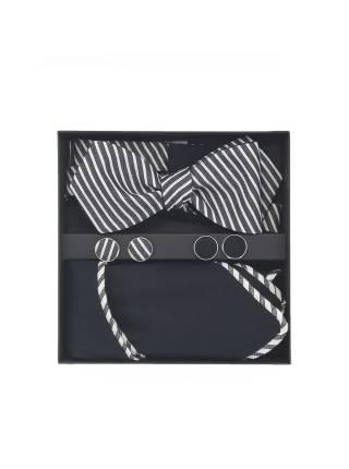 Подарочный набор галстук-бабочка с нагрудным платком и запонками Теория Струн