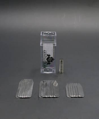 Косточки (вставки) для воротника рубашки стальные с магнитами, 3 размера