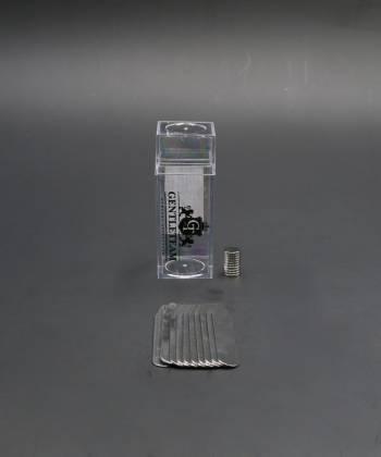Косточки (вставки) для воротника рубашки стальные с магнитами, 6,3 см