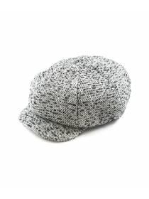 Мужская кепка восьмиклинка шерстяная черно-белого цвета