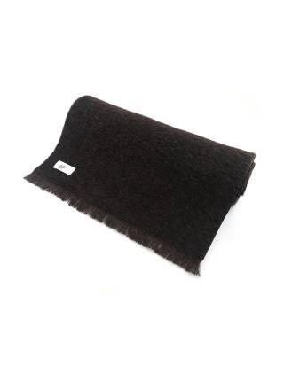 Мужской шарф шерстяной с высоким ворсом коричневого цвета с подкладкой