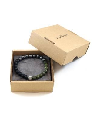 Оригинальный мужской браслет из натуральных камней