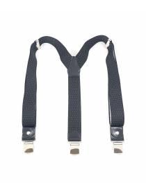 Мужские широкие подтяжки для штанов черного цвета в белый горох