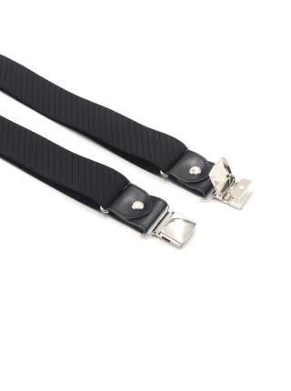 Мужские широкие подтяжки для штанов чёрного цвета в полоску