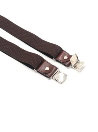 Мужские широкие подтяжки для штанов LALEAS коричневого цвета с мелким узором