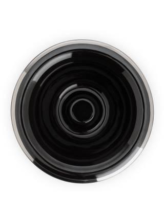 Чаша для бритья MUEHLE, черный фарфор, платиновый обод