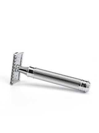Т-образная бритва MUEHLE TRADITIONAL c удлиненной ручкой, хром, open comb