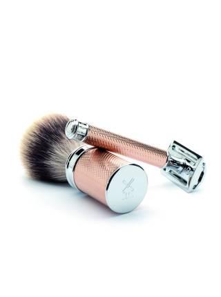 Т-образная бритва MUEHLE TRADITIONAL, розовое золото, closed comb