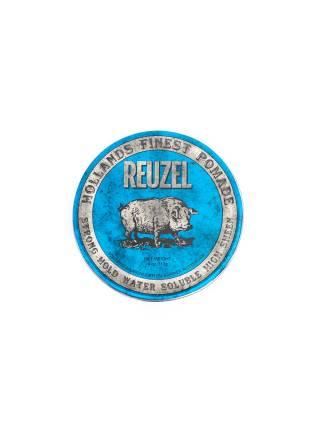 REUZEL Blue Strong Hold High Sheen Pomade, помада сильной фиксации с глянцем, 113 гр.