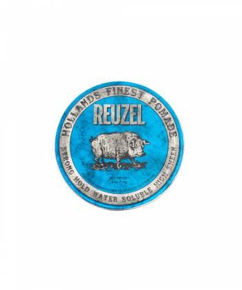 REUZEL Blue Strong Hold High Sheen Pomade, помада сильной фиксации с глянцем, 113 гр
