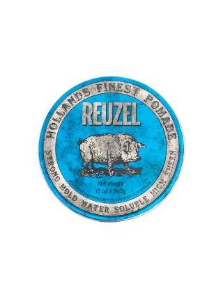 REUZEL Blue Strong Hold High Sheen Pomade, помада сильной фиксации с глянцем, 340 гр.