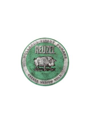 REUZEL Green Medium Hold Grease, помада средней фиксации, 113 гр.