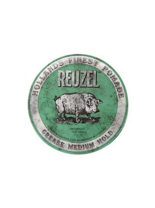 REUZEL Green Medium Hold Grease, помада средней фиксации, 340 гр.