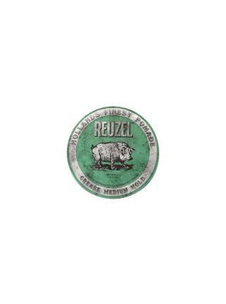 REUZEL Green Medium Hold Grease, помада средней фиксации, 35 гр