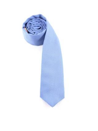 Галстук голубого цвета однотонный из шерсти