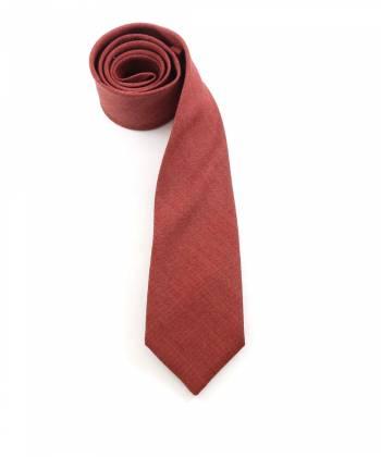 Галстук кирпичного цвета однотонный из шерсти Baboon