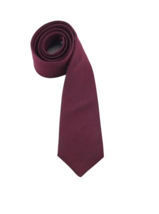 Галстук бордового цвета однотонный из шерсти