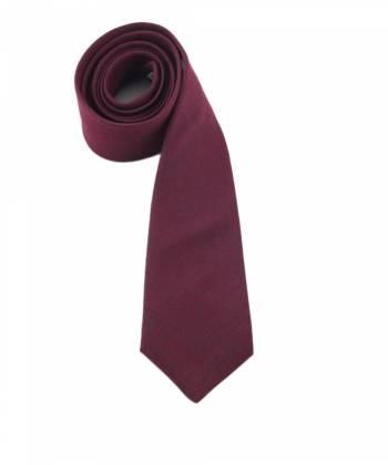 Галстук бордового цвета однотонный из шерсти Baboon